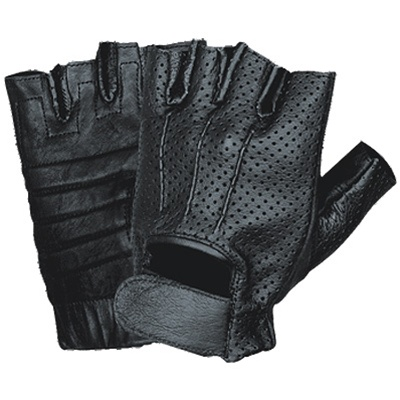 2f2c92af4571d7 Motorcycle Gloves - Perforated Gel Padded Fingerless - Leather Bound Online