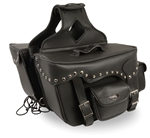 Motorcycle Zip-Off Saddle Bags: Studded