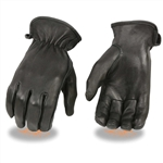 Women's Leather Motorcycle Gloves: Unlined Deerskin