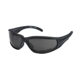 Padded Bifocal Riding Glasses - Smoke Lens
