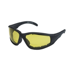 Padded Bifocal Riding Glasses - Yellow Lens, Night Riding