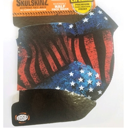 Half Motorcycle Face Mask: USA Design
