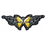 Biker Patches Ladies Tribal Yellow butterfly
