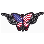 Biker Patches Ladies Tribal patriotic butterfly