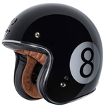 Torc 8-Ball Retro 3/4 Motorcycle Helmet, DOT Approved