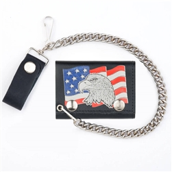 American Eagle Leather Chain Wallet
