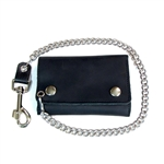 USA Made Cowhide Leather Biker Chain Wallets