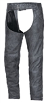 Tombstone Gray Leather Motorcycle Chaps