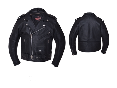 Kids Motorcycle Jacket Classic Leather Biker Style On Sale Now