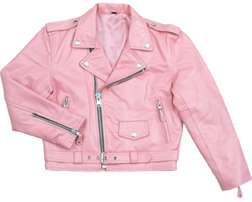 Kids Motorcycle Jacket - Classic Pink Leather - Leather Bound Online
