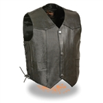 Kids Leather Motorcycle Vest - Biker Style