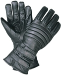 Insulated Leather Motorcycle Gloves: Gauntlet