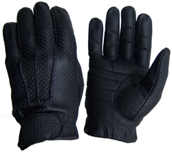 Lightweight Leather Motorcycle Gloves: Preforated