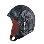 WWII Style Aviator Leather Hat