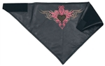 Women's Pink Leather Biker Bandana: Pink Tribal