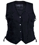Women's Denim Motorcycle Vests - Unik