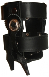 Black Leather Motorcycle Cup Holster