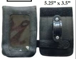 Leather Motorcycle Cell Phone Holder / GPS / EZ Pass