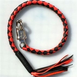 Get Back Motorcycle Whips - Black & Red