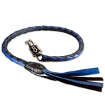 Get Back Motorcycle Whips - Black & Blue
