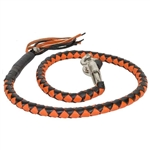 Get Back Motorcycle Whips - Black & Orange