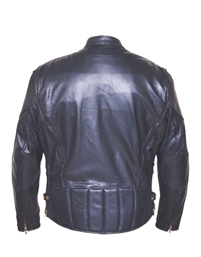 Vented Leather Motorcycle Jacket Unik Ultra Scooter Free Shipping