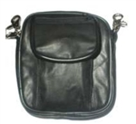 Black Leather Clip-On Belt Pouch