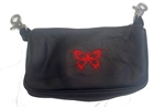 "Biker Leather ""Hip Purse"" - Red Butterfly"