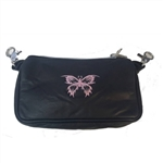 "Biker Leather ""Hip Purse"" - Pink Butterfly"