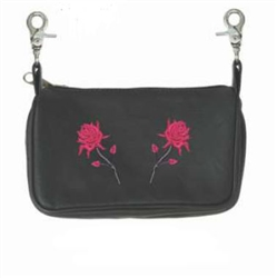Biker Leather Clip Bags - Red Roses