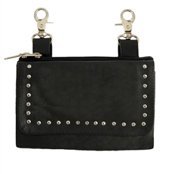 "Biker Leather ""Hip Purse"" - Studded Bag"