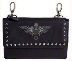 "Biker Leather ""Clip Bag"" - Tribal Design"