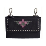 "Biker Leather ""Hip Purse"" - Pink Tribal Design"