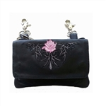 "Biker Leather ""Hip Purse"" - Pink Tribal Rose"