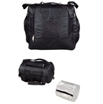 unik motorcycle leather travel bag with rain cover