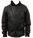 Premium Leather Mens Bomber Jacket
