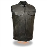 SOA Cowhide Leather Motorcycle Vest