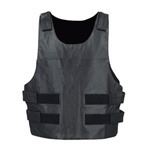 Leather Bullet Proof Style Motorcycle Vest