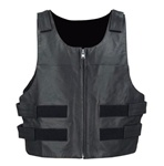 Bullet Proof Leather Mens Motorcycle Club Vest