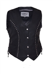 Women's Studded Leather Motorcycle Vest