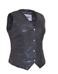 Women's Leather Motorcycle Vests - Unik