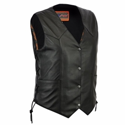 Women's Leather Motorcycle Vests - Unik Full Cut