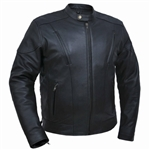 Scooter Men's Motorcycle Jackets - Premium Leather, Unik 305