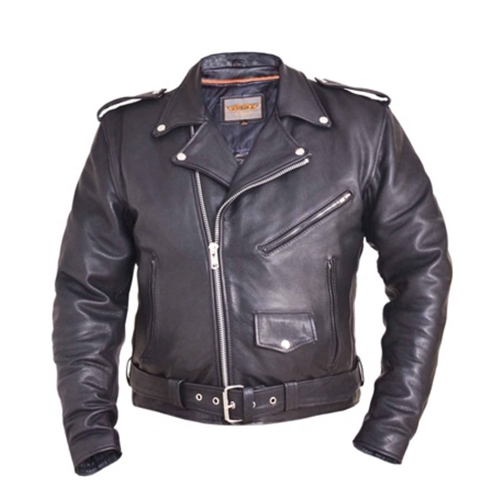 Ultra Premium Traditional Biker Classic Leather Motorcycle Jacket