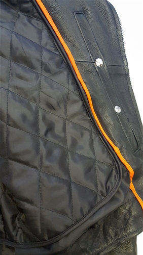 dc7af67ecb8 Ultra Premium Traditional Biker Classic Leather Motorcycle Jacket