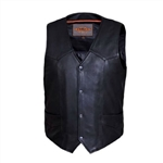 Men's Leather Motorcycle Vest: Unik Premium