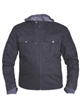 Mens Black Denim Motorcycle Jacket