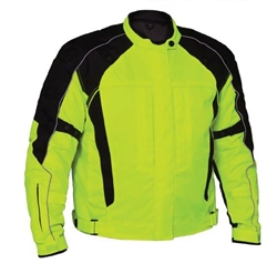 High Visibility Neon Green Motorcycle Jacket