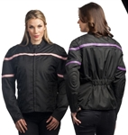 Women's Textile Motorcycle Jackets: Lightweight Pink
