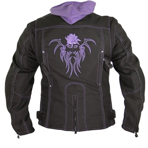Purple Tribal Rose Women's Motorcycle Jackets / Free Shipping